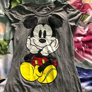 Mickey Mouse front and back graphic T-shirt